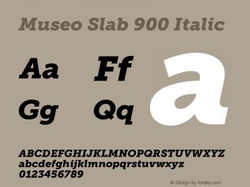 Museo Slab 900 Italic Version 1.000; Fonts for Free; vk.com/fontsforfree图片样张