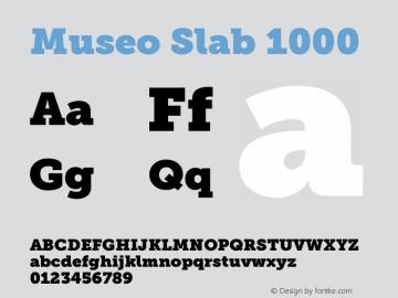 Museo Slab 1000 Version 1.071; Fonts for Free; vk.com/fontsforfree图片样张