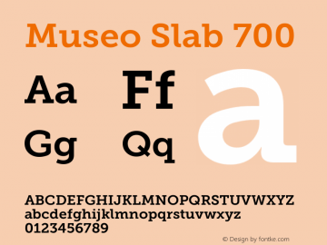 Museo Slab 700 Version 1.000; Fonts for Free; vk.com/fontsforfree图片样张