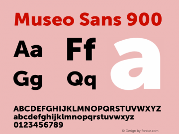 Museo Sans 900 Version 1.000; Fonts for Free; vk.com/fontsforfree图片样张