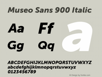 Museo Sans 900 Italic Version 1.000; Fonts for Free; vk.com/fontsforfree图片样张