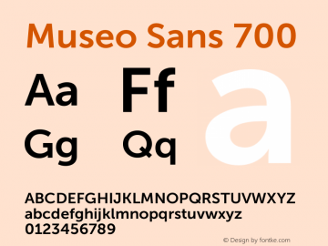 Museo Sans 700 Version 1.000; Fonts for Free; vk.com/fontsforfree图片样张