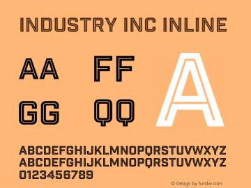 Industry Inc Font,Industry Inc Inline Font,IndustryInc