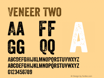 Veneer Two Version 1.001; Fonts for Free; vk.com/fontsforfree图片样张