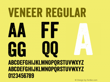 Veneer Version 1.001; Fonts for Free; vk.com/fontsforfree图片样张