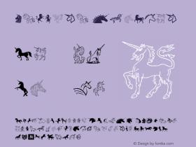 Unicorn Version 1.00;January 5, 2018;FontCreator 11.0.0.2388 64-bit图片样张