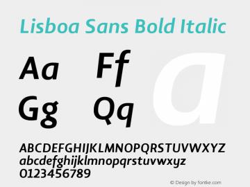 Lisboa Sans Bold Italic Version 2.000图片样张
