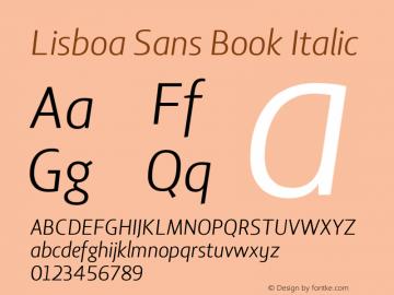 Lisboa Sans Book Italic Version 2.001图片样张