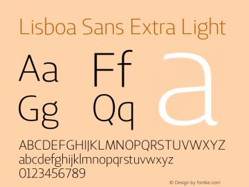 Lisboa Sans Extra Light Version 2.000图片样张