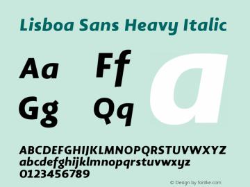 Lisboa Sans Heavy Italic Version 2.000图片样张