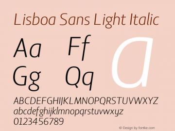 Lisboa Sans Light Italic Version 2.000图片样张