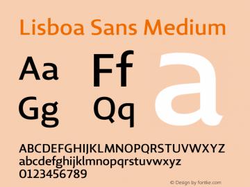 Lisboa Sans Medium Version 2.000图片样张