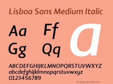 Lisboa Sans Medium Italic Version 2.000图片样张