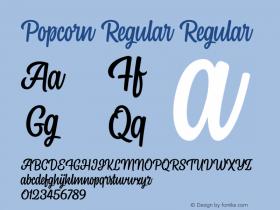 PopcornRegular Version 1.000图片样张