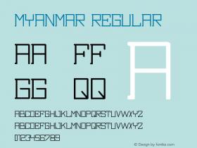 Myanmar Version 1.00;April 20, 2018;FontCreator 11.5.0.2421 32-bit图片样张