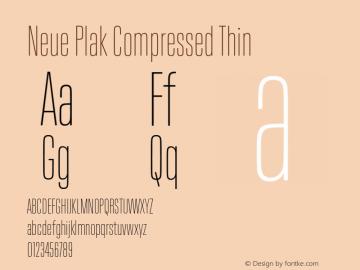 Neue Plak Compressed Thin Version 1.00, build 9, s3图片样张