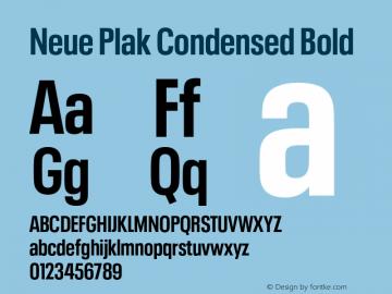Neue Plak Condensed Bold Version 1.00, build 9, s3图片样张