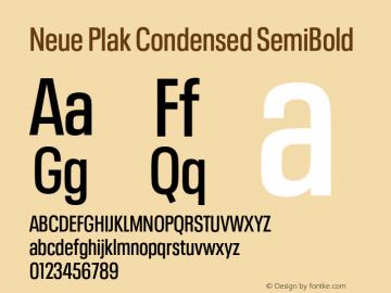 Neue Plak Condensed SemiBold Version 1.00, build 9, s3图片样张