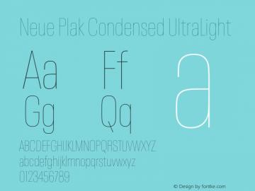 Neue Plak Condensed UltraLight Version 1.00, build 9, s3图片样张