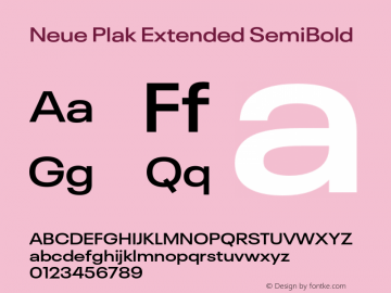 Neue Plak Extended SemiBold Version 1.00, build 9, s3图片样张