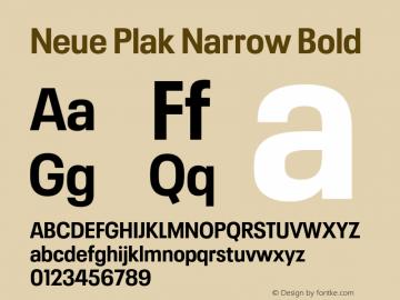 Neue Plak Narrow Bold Version 1.00, build 9, s3图片样张