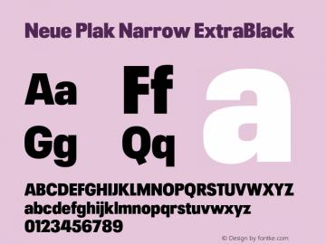 Neue Plak Narrow ExtraBlack Version 1.00, build 9, s3图片样张