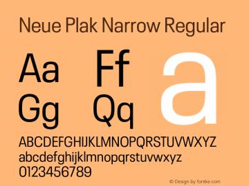 Neue Plak Narrow Regular Version 1.00, build 9, s3图片样张