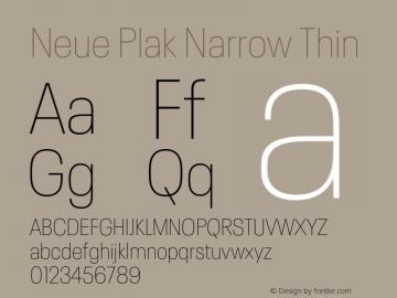 Neue Plak Narrow Thin Version 1.00, build 9, s3图片样张