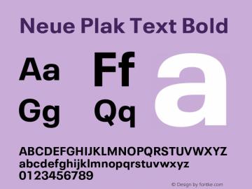 Neue Plak Text Bold Version 1.00, build 10, s3图片样张