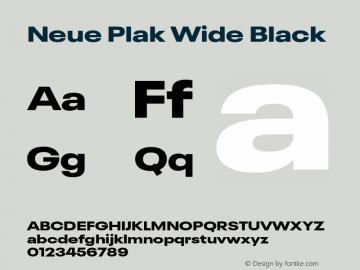 Neue Plak Wide Black Version 1.00, build 9, s3图片样张