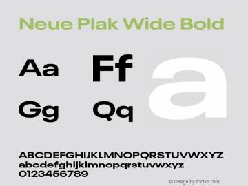 Neue Plak Wide Bold Version 1.00, build 9, s3图片样张