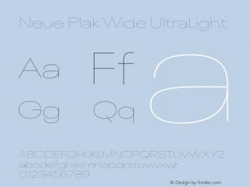 Neue Plak Wide UltraLight Version 1.00, build 9, s3图片样张