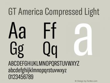 GTAmerica-CompressedLight Version 1.003;PS 001.003;hotconv 1.0.88;makeotf.lib2.5.64775图片样张
