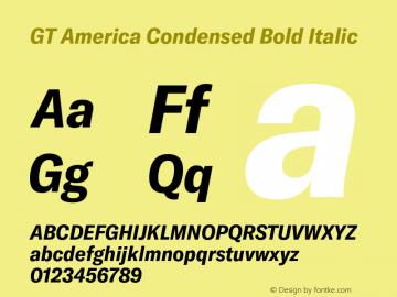 GTAmerica-CondensedBoldItalic Version 1.003;PS 001.003;hotconv 1.0.88;makeotf.lib2.5.64775图片样张