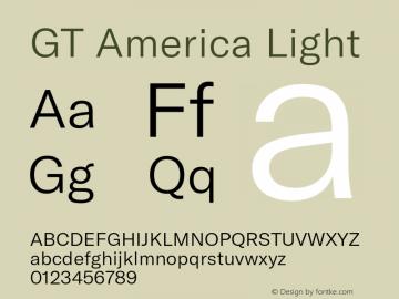 GTAmerica-Light Version 1.003;PS 001.003;hotconv 1.0.88;makeotf.lib2.5.64775图片样张