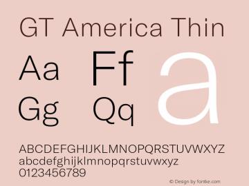 GTAmerica-Thin Version 1.003;PS 001.003;hotconv 1.0.88;makeotf.lib2.5.64775图片样张
