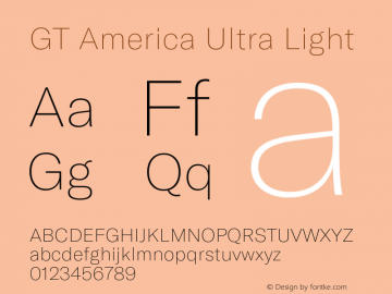 GTAmerica-UltraLight Version 1.003;PS 001.003;hotconv 1.0.88;makeotf.lib2.5.64775图片样张