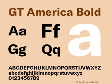 GTAmerica-Bold Version 1.003;PS 001.003;hotconv 1.0.88;makeotf.lib2.5.64775图片样张