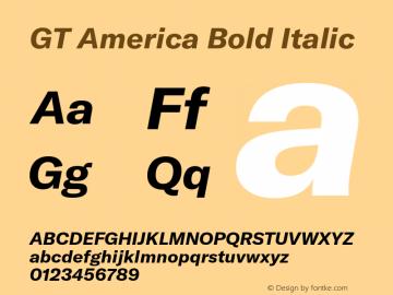 GTAmerica-BoldItalic Version 1.003;PS 001.003;hotconv 1.0.88;makeotf.lib2.5.64775图片样张