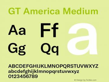 GTAmerica-Medium Version 1.003;PS 001.003;hotconv 1.0.88;makeotf.lib2.5.64775图片样张