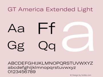 GTAmerica-ExtendedLight Version 1.003;PS 001.003;hotconv 1.0.88;makeotf.lib2.5.64775图片样张