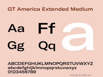 GTAmerica-ExtendedMedium Version 1.003;PS 001.003;hotconv 1.0.88;makeotf.lib2.5.64775图片样张
