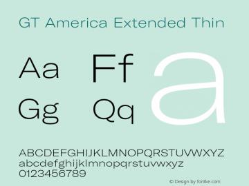 GTAmerica-ExtendedThin Version 1.003;PS 001.003;hotconv 1.0.88;makeotf.lib2.5.64775图片样张