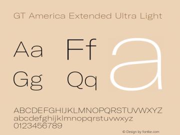 GTAmerica-ExtendedUltraLight Version 1.003;PS 001.003;hotconv 1.0.88;makeotf.lib2.5.64775图片样张