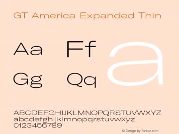 GTAmerica-ExpandedThin Version 1.003;PS 001.003;hotconv 1.0.88;makeotf.lib2.5.64775图片样张