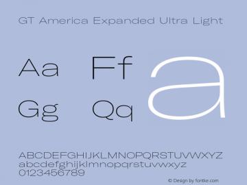 GTAmerica-ExpandedUltraLight Version 1.003;PS 001.003;hotconv 1.0.88;makeotf.lib2.5.64775图片样张