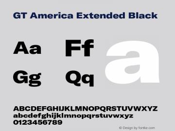 GTAmerica-ExtendedBlack Version 1.003;PS 001.003;hotconv 1.0.88;makeotf.lib2.5.64775图片样张
