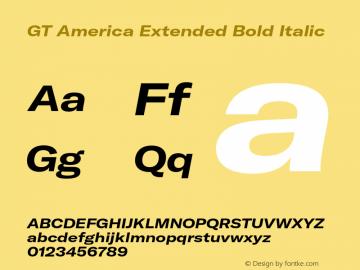 GTAmerica-ExtendedBoldItalic Version 1.003;PS 001.003;hotconv 1.0.88;makeotf.lib2.5.64775图片样张