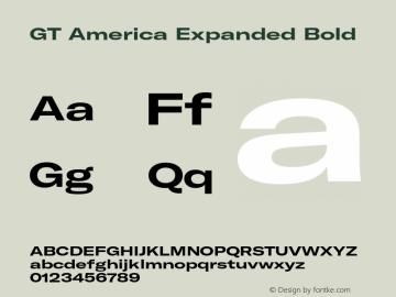 GTAmerica-ExpandedBold Version 1.003;PS 001.003;hotconv 1.0.88;makeotf.lib2.5.64775图片样张