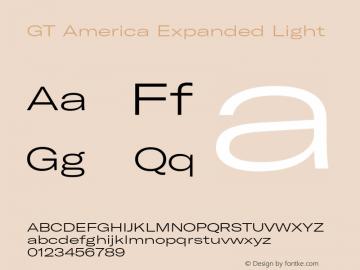 GTAmerica-ExpandedLight Version 1.003;PS 001.003;hotconv 1.0.88;makeotf.lib2.5.64775图片样张